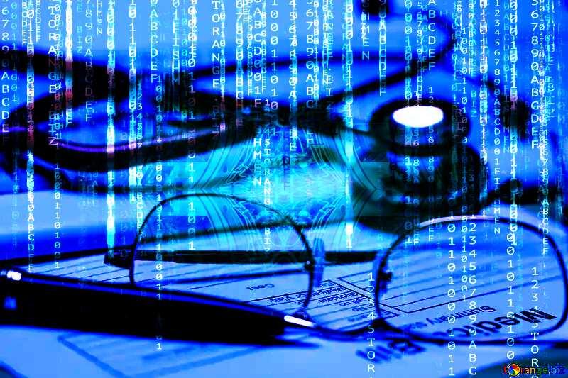 Medical Digital enterprise matrix style background №19710