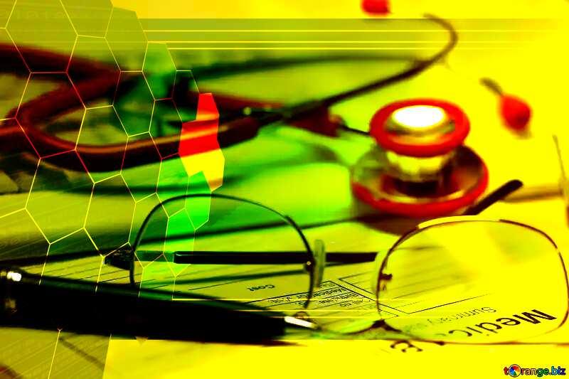 Medical  educational pharm illustration background №19710