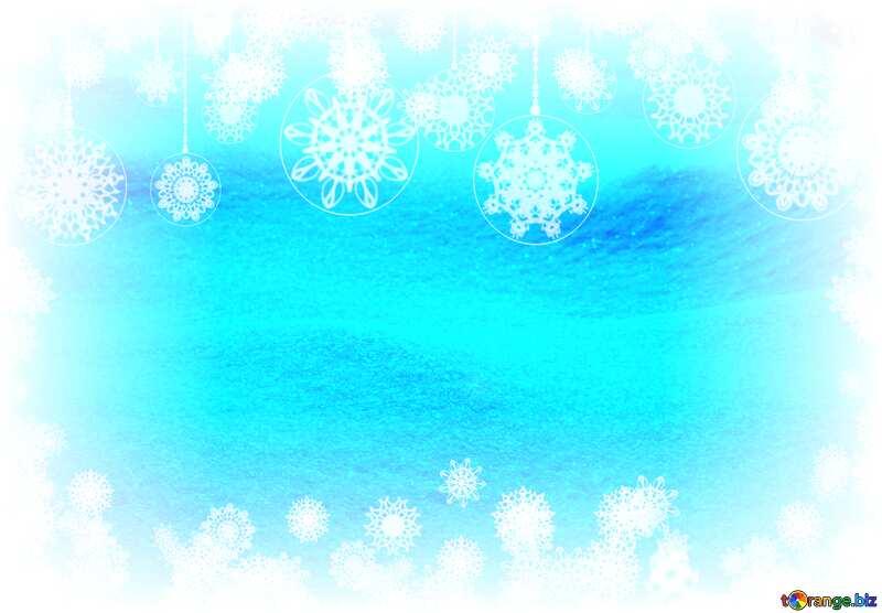 Snow Winter Background Card Snowy Frame №833