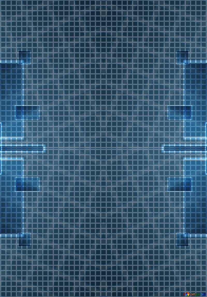 Technology background tech abstract squares of the grid cell  №49678
