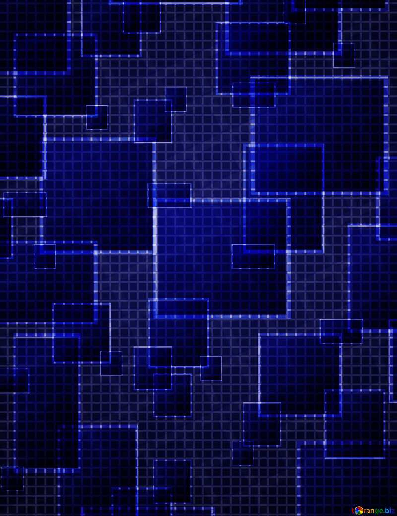 Technology deep blue background tech abstract squares of the grid cell line ruler texture techno modern computer pattern     №49678