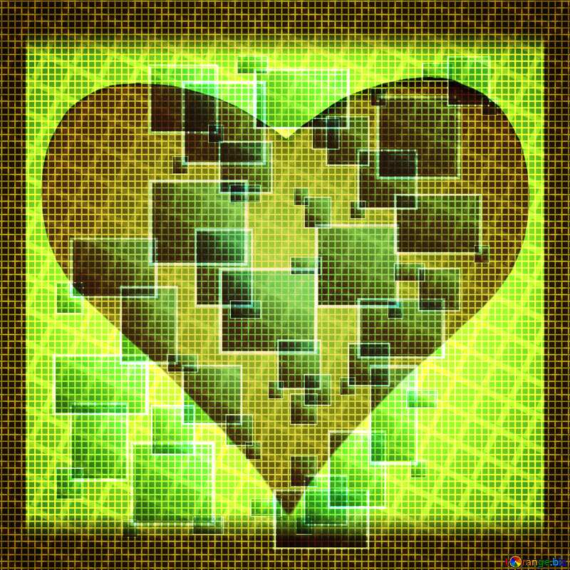 Technology love heart frame background tech abstract squares of the grid cell line ruler texture techno modern computer pattern     №49678