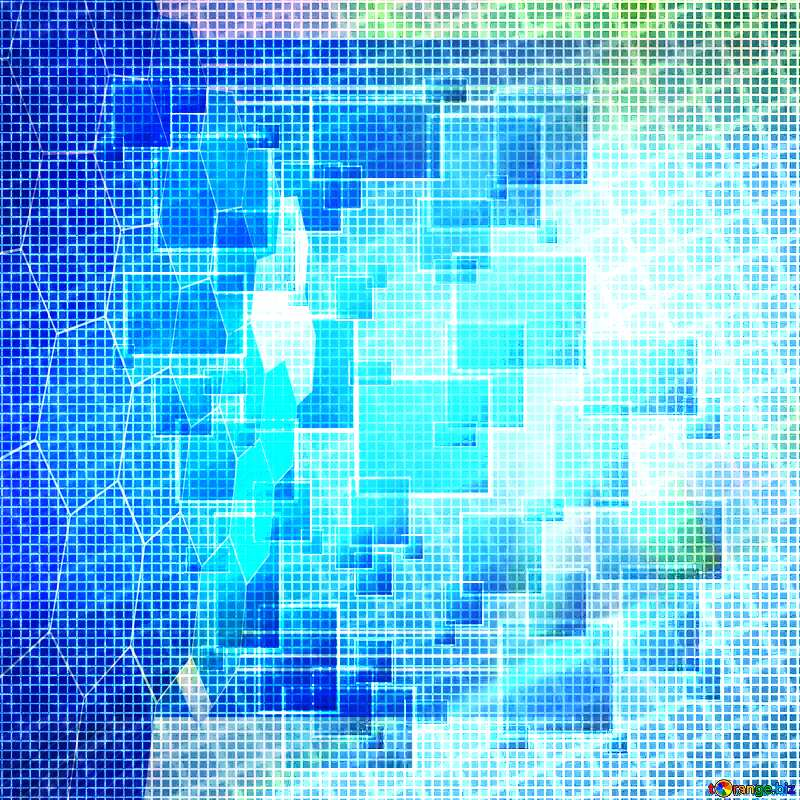 Technology blue background tech abstract squares of the grid cell line ruler texture techno modern computer pattern overlay Tech business information concept image for presentation №49678