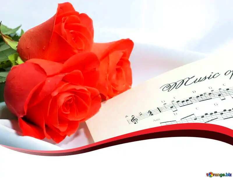 Template Blank greetings Card music №7255