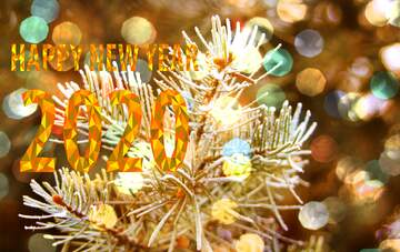 The effect of hard light. Very Vivid Colours. Fragment. Happy New Year 2020.