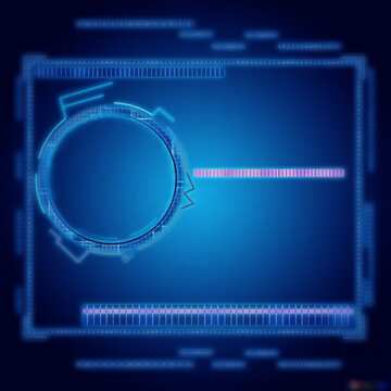 L'effetto del buio. L'effetto di macchiato brillante blu. telaio sfocatura.