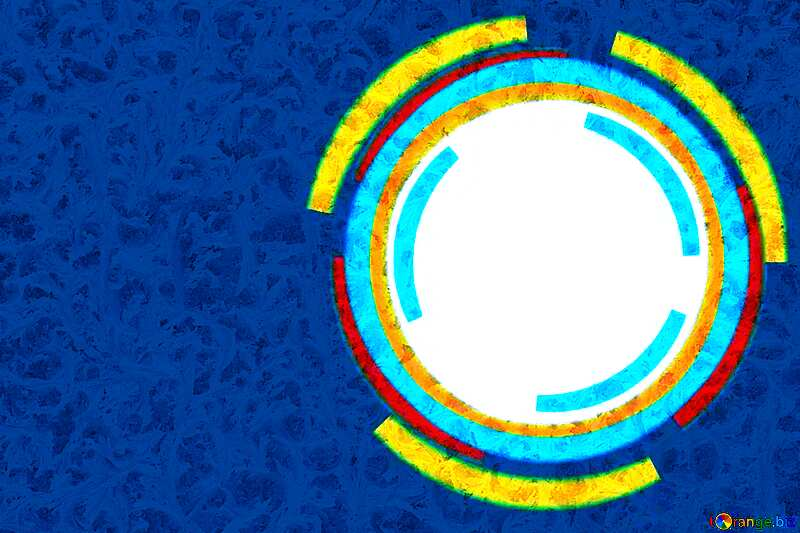 Frozen Blue Infographics circle frame №49680