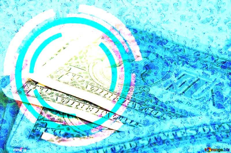 Frozen dollars Infographics circle frame №1498