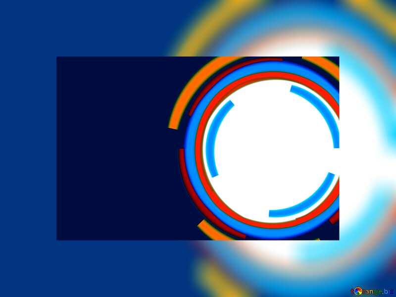 Infographics circle blue frame card №49680