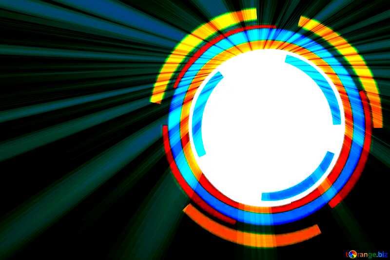 Infographics circle frame Art Rays №49680