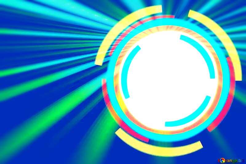 Infographics circle frame blue rays №49680