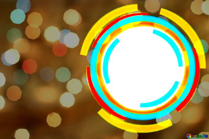 Infographics circle frame Bokeh Background №49680