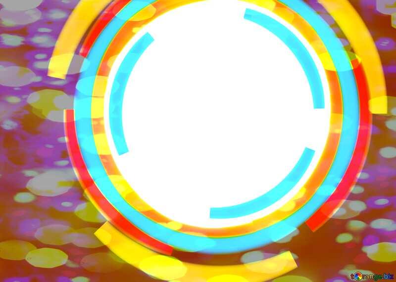 Infographics circle frame Colorful Bokeh Lights Background №49680