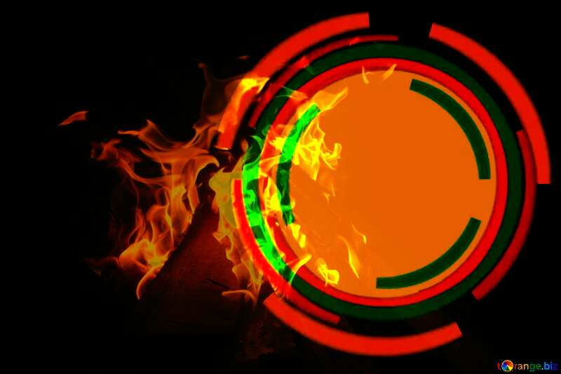 Infographics circle frame Fire Burning №49680
