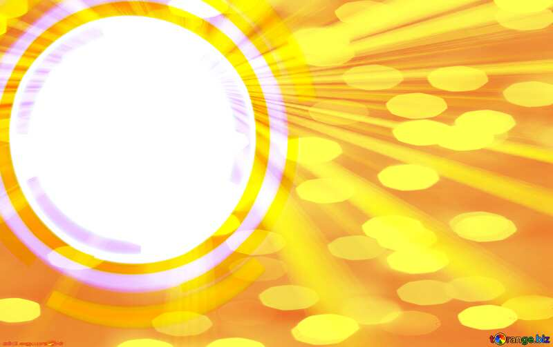 Infographics circle frame Gold Rays  Card Background №49680