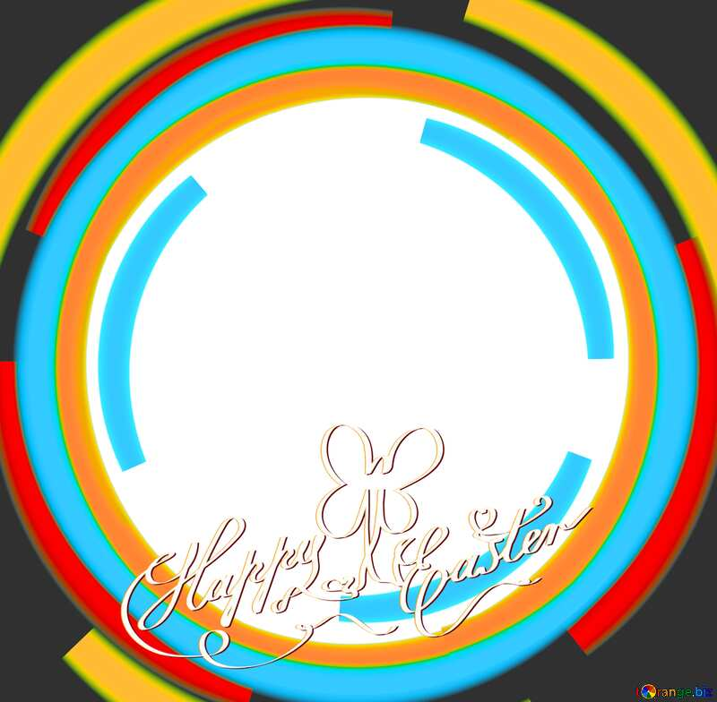 Infographics circle frame Happy Easter Background №49680