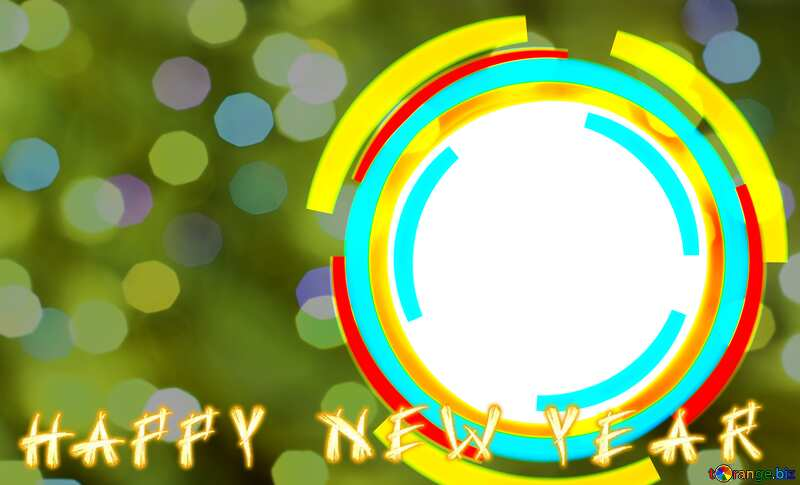 Infographics circle frame Happy New Year Background №49680