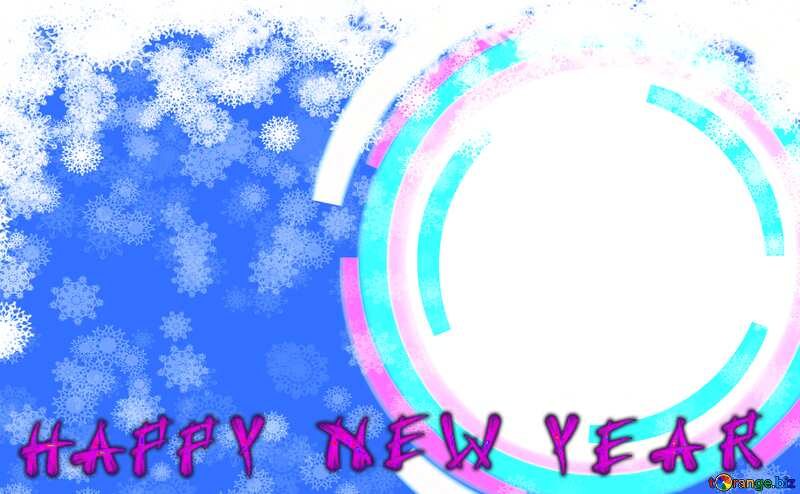 Infographics circle frame Happy New Year card №49680