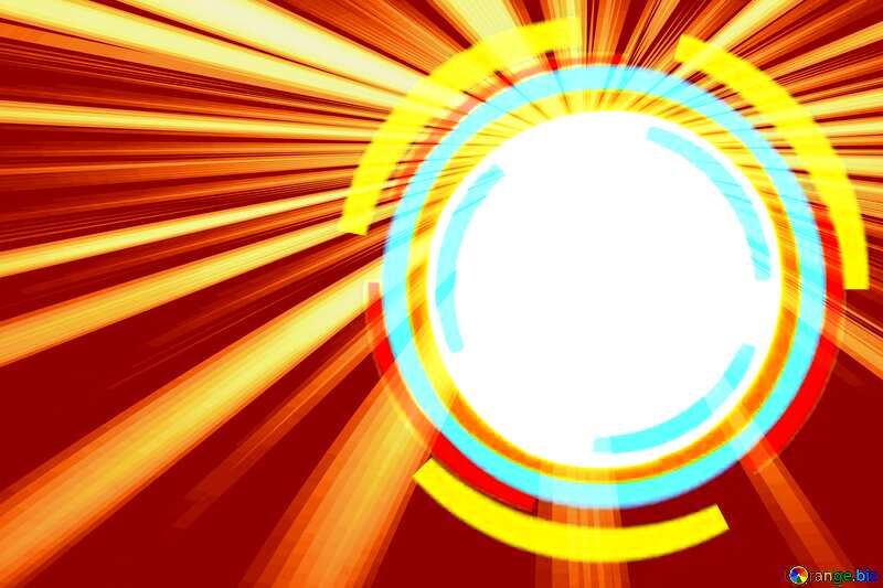 Infographics circle frame Sunlight Rays Background №49680