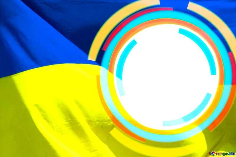 Infographics circle frame Ukraine Background №49680