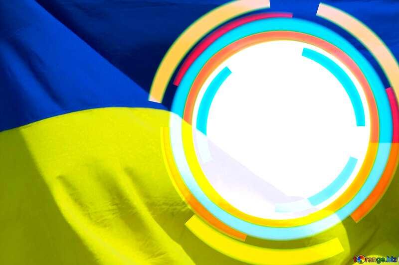 Infographics circle frame Ukrainian Backcground №49680