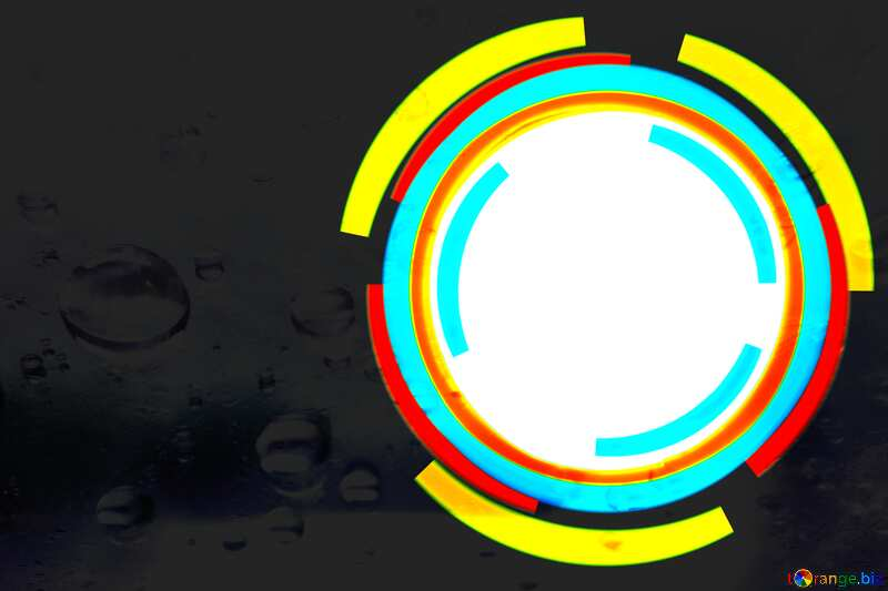 Infographics circle frame water  Drops №49680