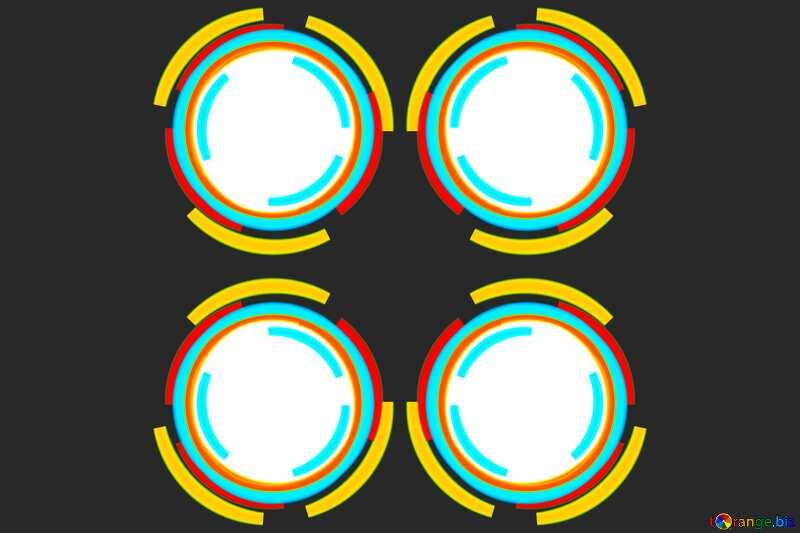 Infographics circles frame №49680