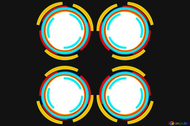 Infographics four circle frame №49680