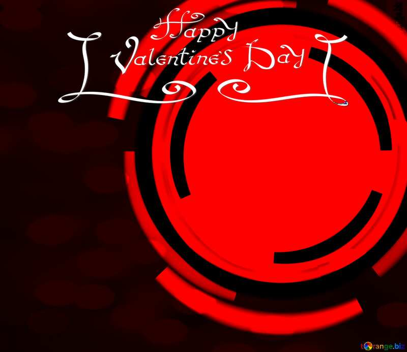 Infographics red circle frame Happy Valentines Day №49680