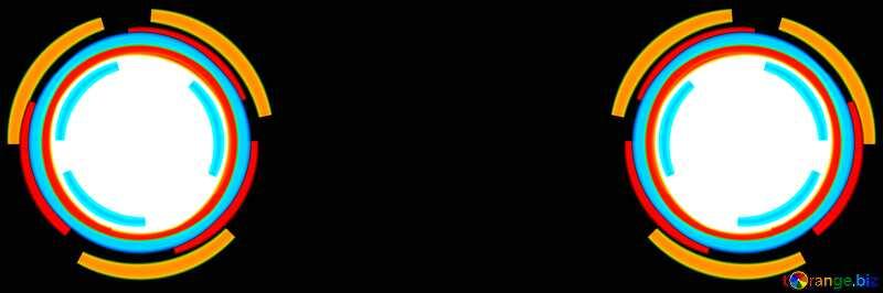 Symmetrical  Infographics circle frame №49680
