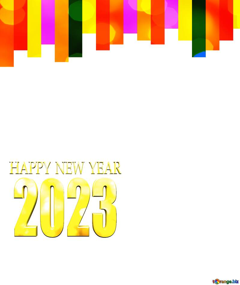 Colorful lines card frame for Happy New Year 2021 №49681