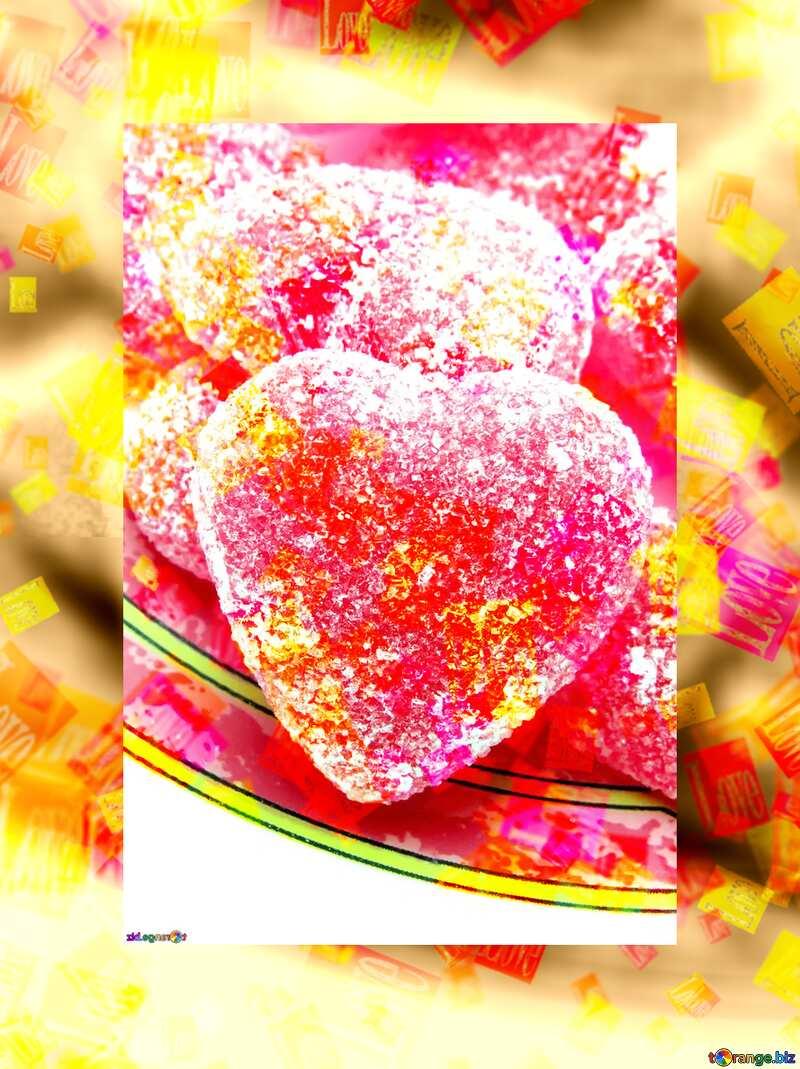 Heart candy love card №18541