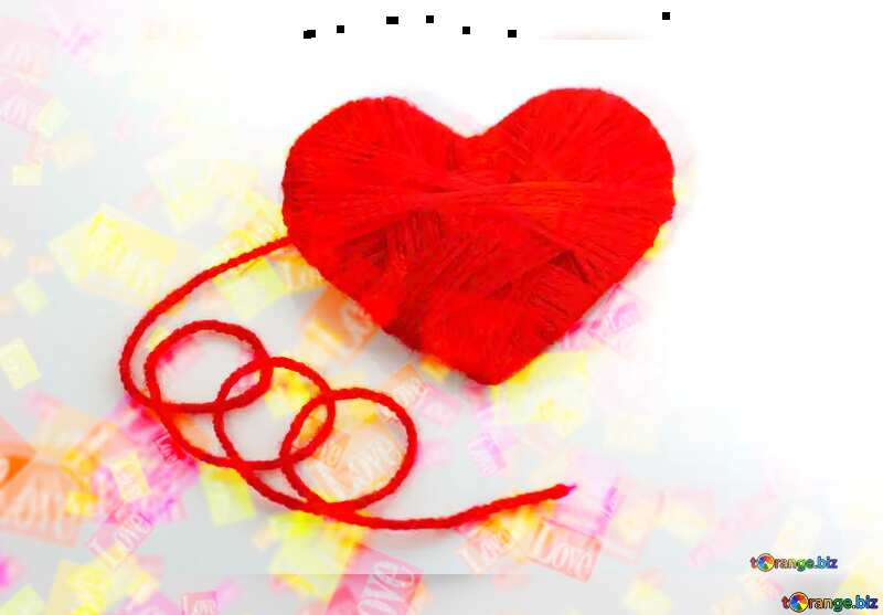 Hearts love Valentines card   №16460