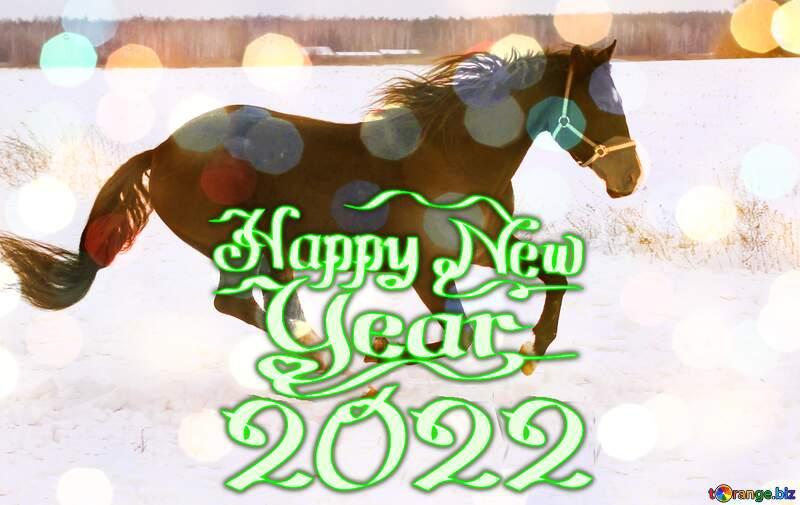 Horse Happy New Year 2022 №18191