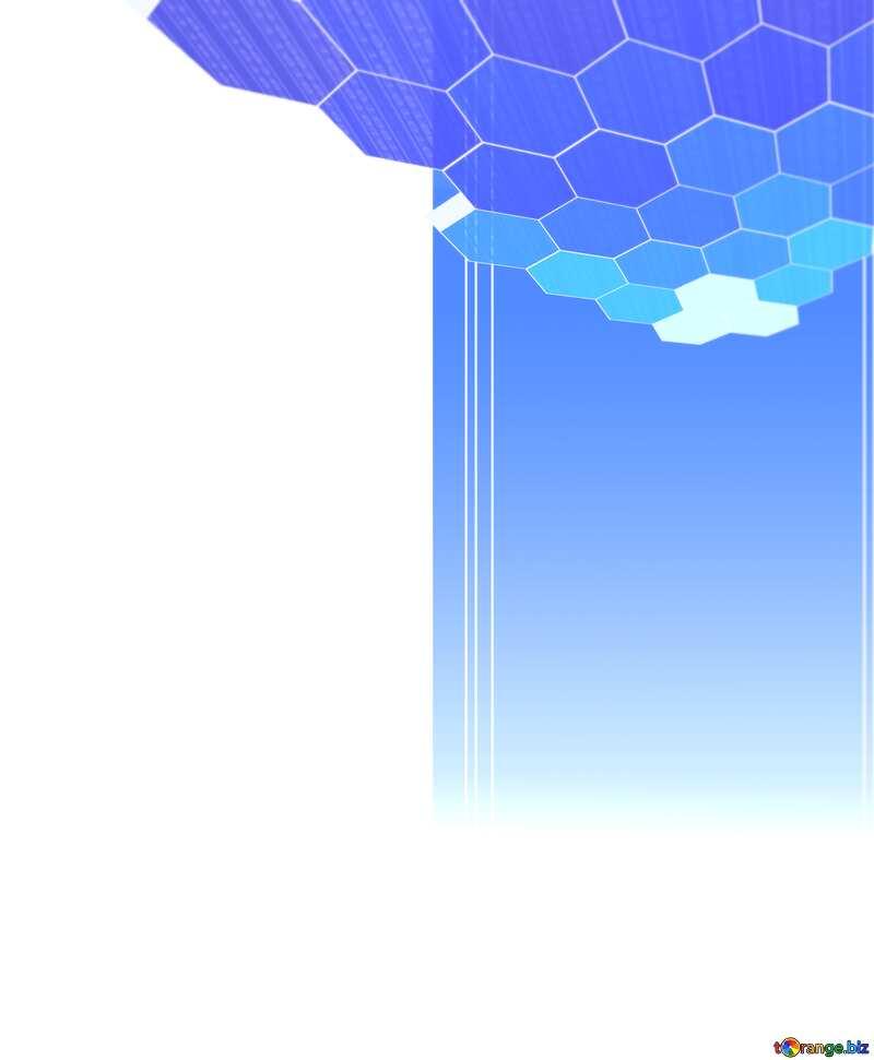 information blue techno concept blank label №49674