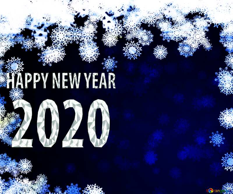 New year 2020 background card with snowflakes №40728