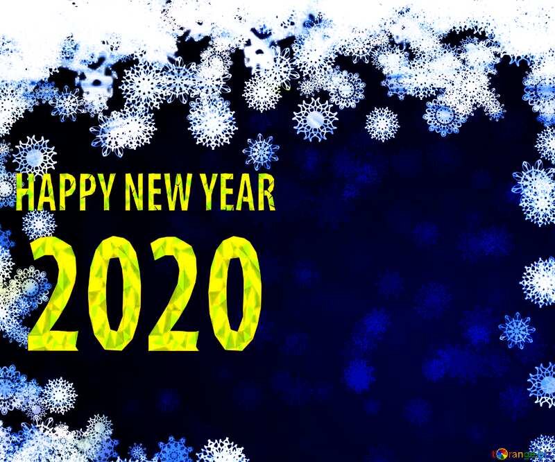 New year 2020  background with snowflakes №40728