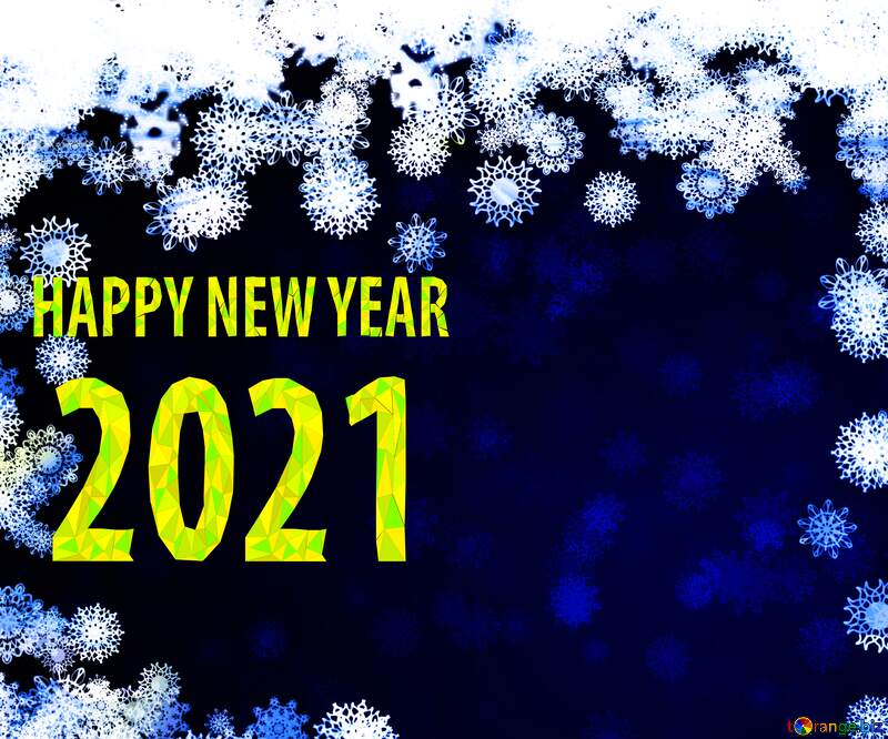 New year 2021  background with snowflakes №40728