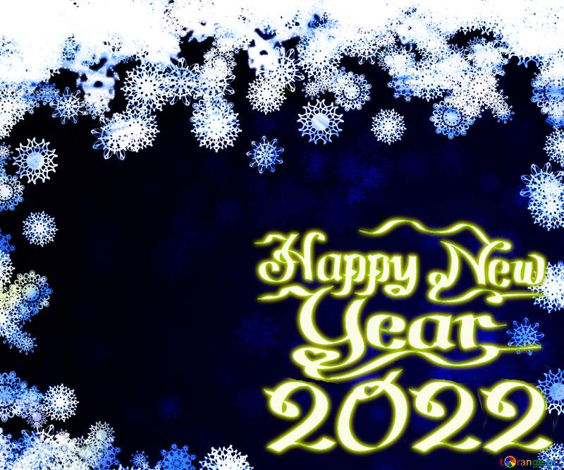 New year 2021 blue background with snowflakes №40728