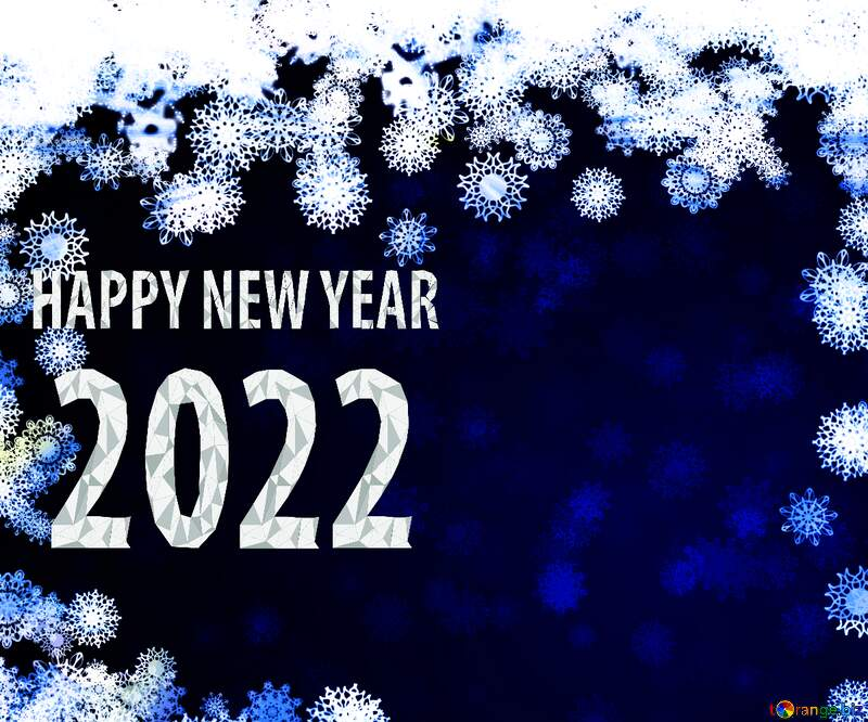 New year 2022 background card with snowflakes №40728