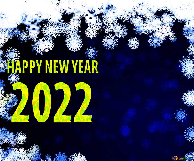 New year 2022  background with snowflakes №40728