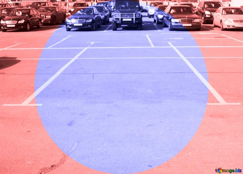 Parking  infographics blue circle frame №861