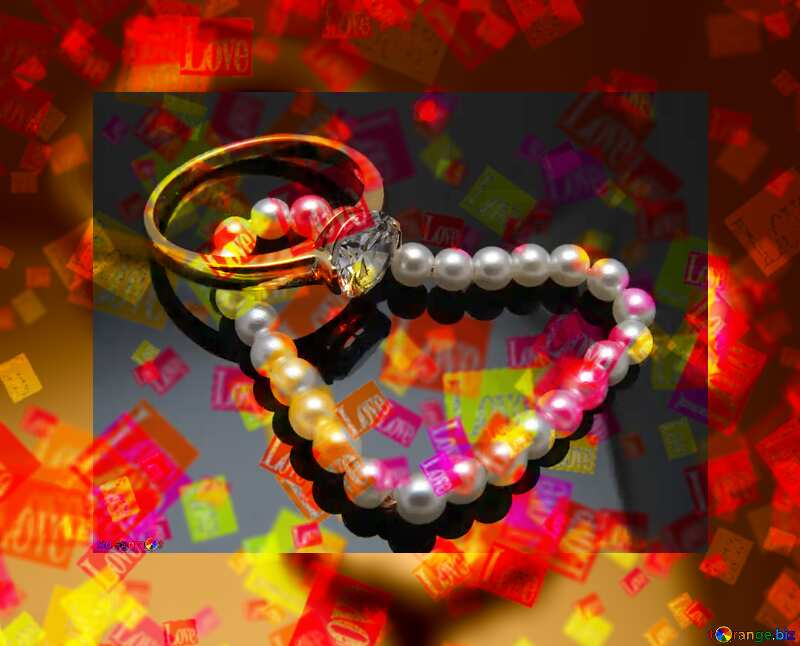 Pearl heart  love card №18268