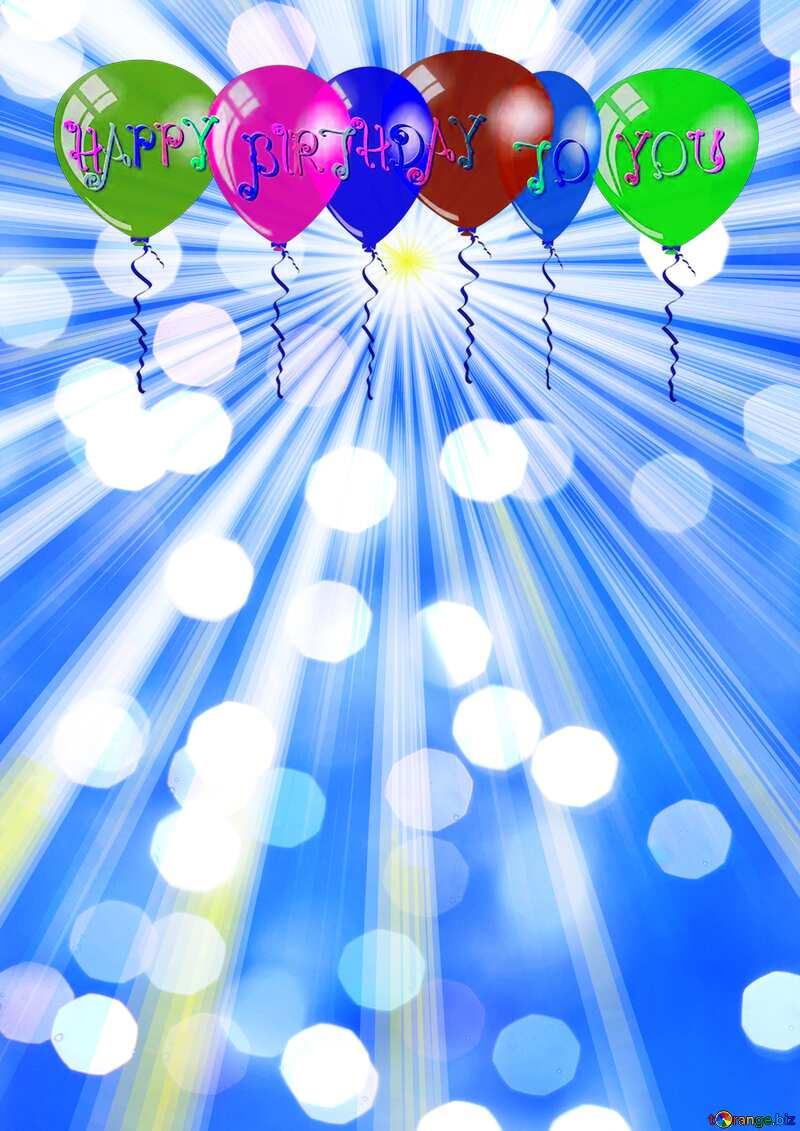Rays of sunlight Happy Birthday Card Background №49660