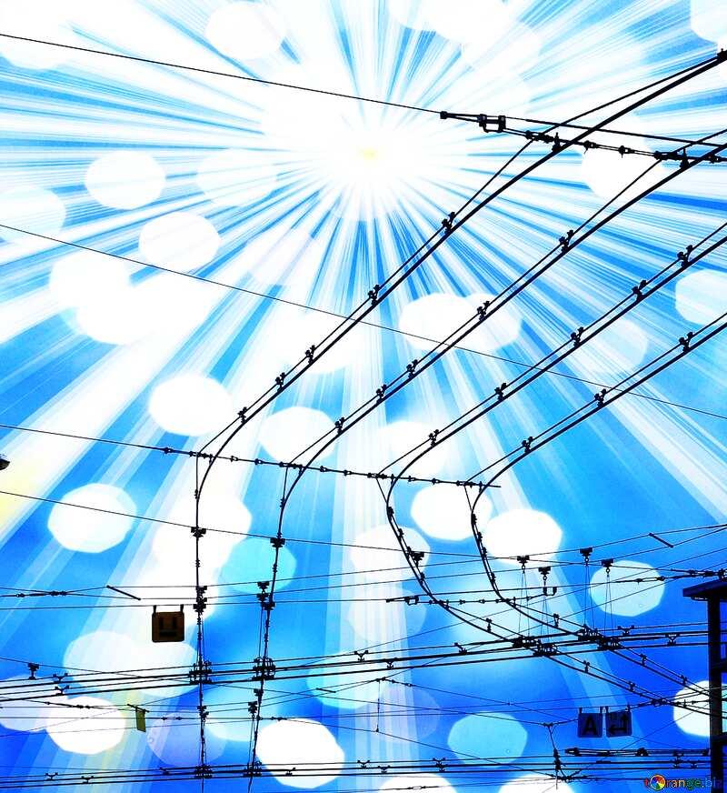Trolley wires  Art Background №383