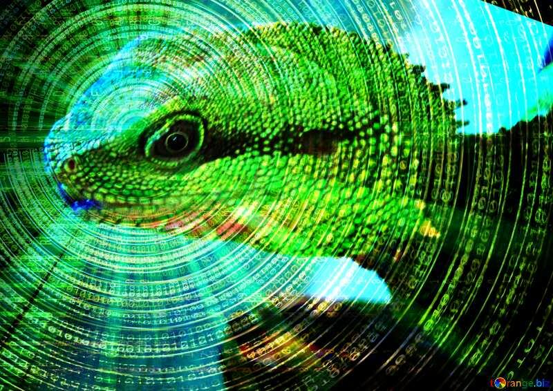 Water agama. Technology Futuristic background №10249