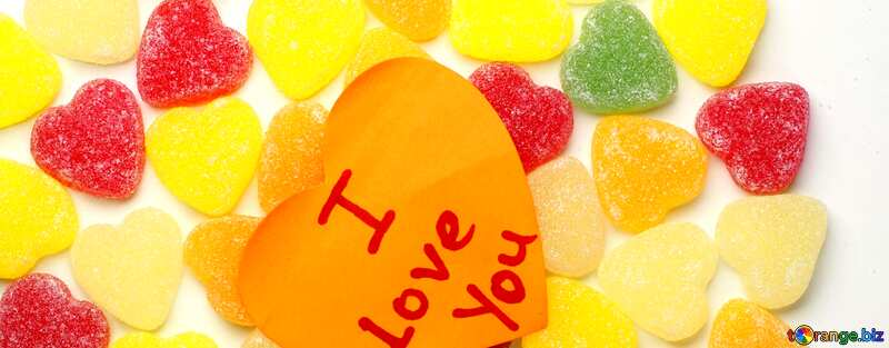 Cover. Background I love you in candy. №18767