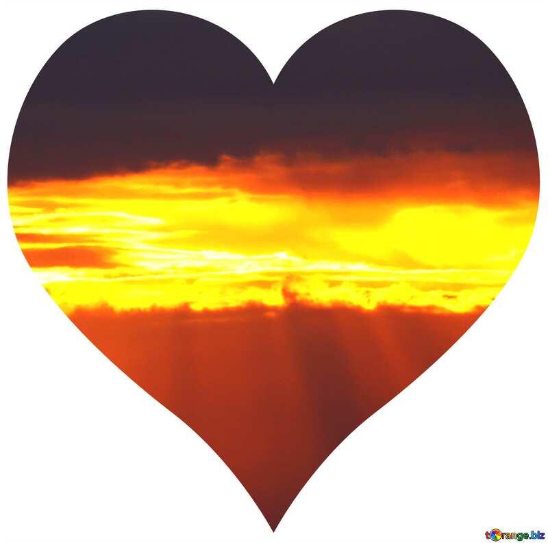Heart of sunset №2783