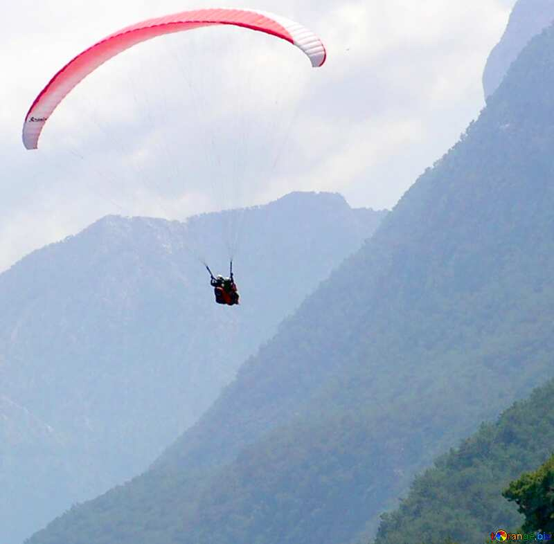 Image for profile picture Parachute in the mountains. №21149