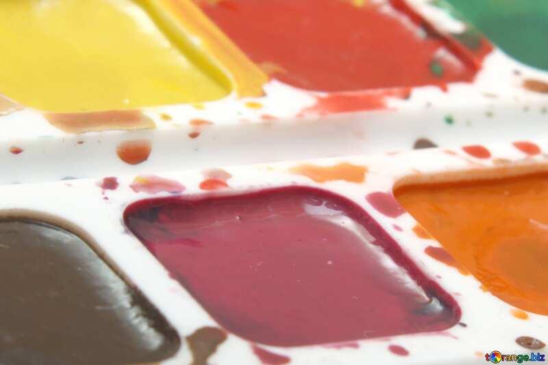 Pastel colors. Watercolor paints. №18025